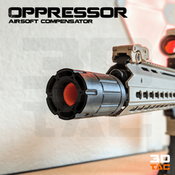 Download STL file 3DTAC / Airsoft Compensators: Oppressor, 3DMX