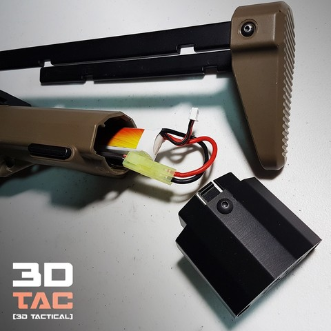 Airsoft / Ares AM-013/14/15 battery extender 3D model, 3DNG_MX
