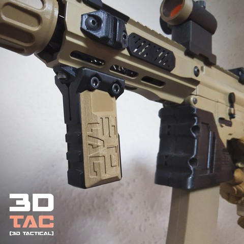 3DTAC_Covers_VertX_2.jpg Download STL file 3DTAC / VERTX 80° Tactical Grip • 3D printing template, 3DMX