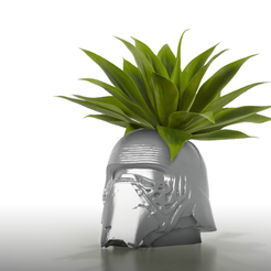 3d printer files CoolPots # 3 - Kylo Ren Flower pot / Pencil holder, SergeRomero