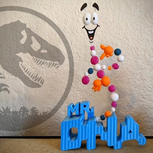 MR DNA Jurassic Park 3D Print.jpg Descargar archivo STL El Sr. ADN de Jurassic Park • Modelo imprimible en 3D, 3DMX