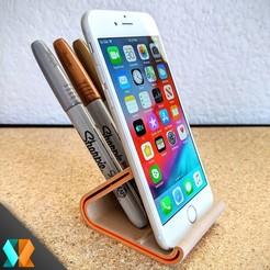 Download free 3D printing templates 3DMX Kickflip / Universal Phone & Tab Stand, 3DMX