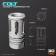 Download STL file 3TAC / Airsoft Compensators / Pack-2 (3 Models Included), 3DMX