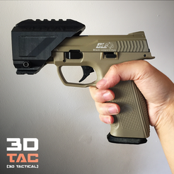 Download 3D printing files 3DTAC Airsof Pistol Rail, SergeRomero