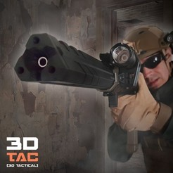 Download 3D printing files 3DTAC / DELTA Airsoft Resonator & Sound Enhancer, SergeRomero
