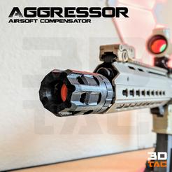 Download 3D printing templates 3DTAC / Airsoft Compensators: Agressor, 3DMX