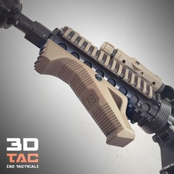 "diseños 3d ""Python"" Custom foregrip for airsoft and paintball markers, SergeRomero"