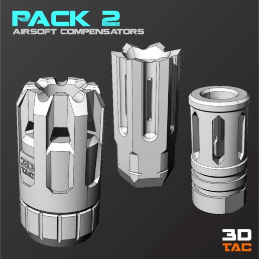 Télécharger fichier imprimante 3D 3TAC / Compensateurs Airsoft / Pack-2 (3 modèles inclus), 3DMX