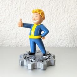 Download 3D printing templates Vault Boy / Multi-Part Deluxe  Sculpt, 3DMX