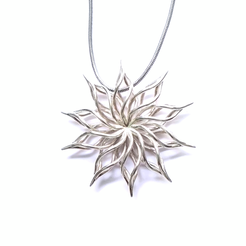 3D printer models sunflower pendant, ideamx