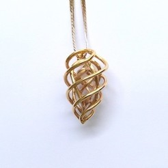 3d printer designs flame pendant, ideamx
