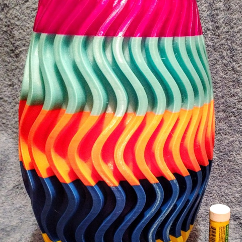 Free 3d model 5-color Vase, Birk