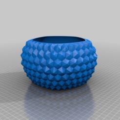 diamondbowl4.png Download free STL file DiamondBowl4 • 3D printer object, Birk