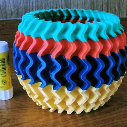 Download free 3D printing models Waves2, Birk