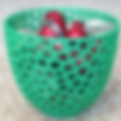 Free STL files VoronoiBowl3, Birk