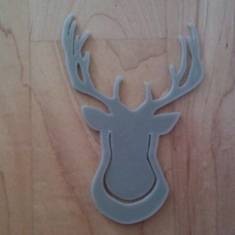 Clip_T_te_de_Cerf_3_-_Cults_-_by_Roman_Hegglin.jpg Download free STL file Deerhead - Clip on • 3D print model, Cults