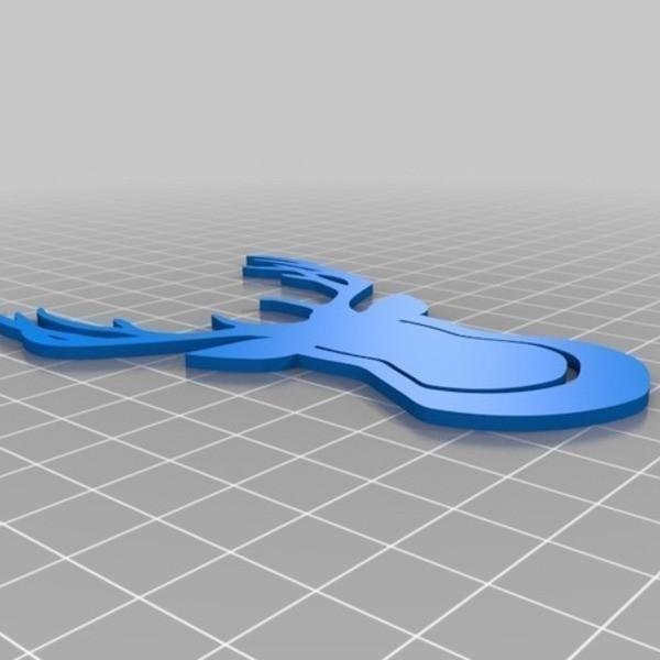 Clip_T_te_de_Cerf_4_-_Cults_-_by_Roman_Hegglin.jpg Download free STL file Deerhead - Clip on • 3D print model, Cults