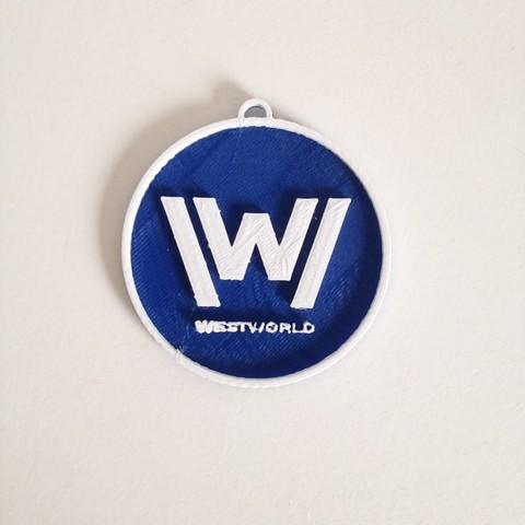 Photo 26-10-2016 11 12 08.jpg Download free STL file West World Logo Key Chain • 3D printable design, Cults