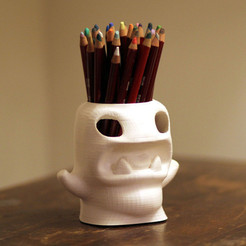 Download free 3D printing templates Pencilpot Monster, Cults