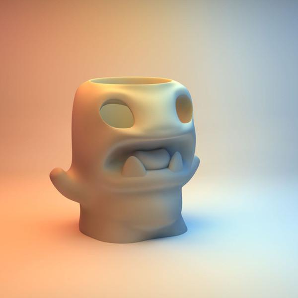 pencilpotmonster_display_large.jpg Download free STL file Pencilpot Monster • 3D printable object, Cults