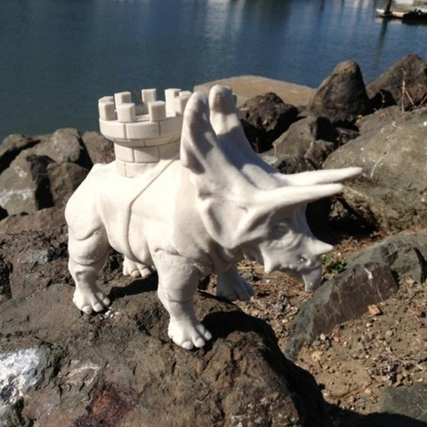 battle_dino_cults_3D_printing_3D_model_toy.jpg Download free STL file Battle dinosaur 1 • 3D printer design, Cults