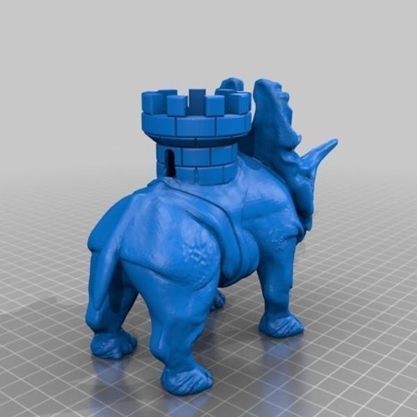 penta_castle_v3_flatfoot_preview_featured.jpg Download free STL file Battle dinosaur 1 • 3D printer design, Cults