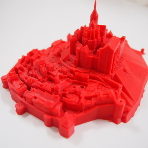 Free Mont Saint Michel STL file, Cults