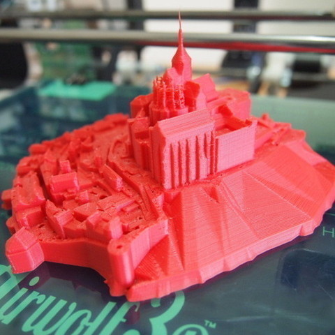 P7176880_preview_featured.jpg Download free STL file Mont Saint Michel • 3D printable model, Cults