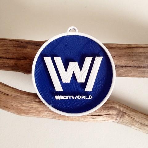 Photo 26-10-2016 11 14 14.jpg Download free STL file West World Logo Key Chain • 3D printable design, Cults