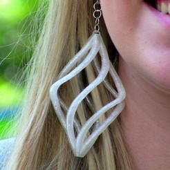 Free STL files Spiral Earring, Cults