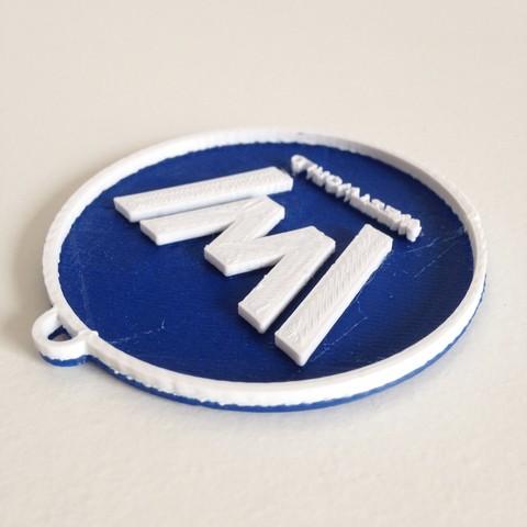 Photo 26-10-2016 11 13 01.jpg Download free STL file West World Logo Key Chain • 3D printable design, Cults