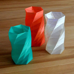 Twisted_6-sided_Vase_Basic_MaakMijnIdee_cults_3D_1.jpg Download free STL file Twisted Vase • 3D printer template, Cults