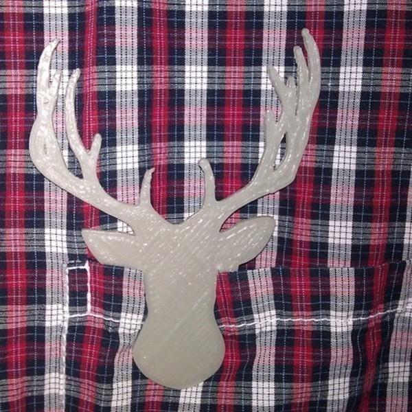 Clip_T_te_de_Cerf_-_Cults_-_by_Roman_Hegglin.jpg Download free STL file Deerhead - Clip on • 3D print model, Cults