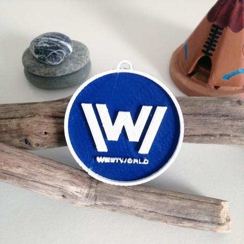 Photo 26-10-2016 11 13 58.jpg Download free STL file West World Logo Key Chain • 3D printable design, Cults
