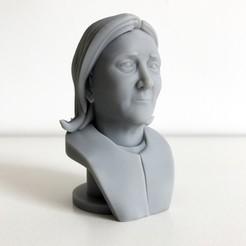 0.jpg Download free STL file Marine Le Pen • 3D printer object, Cults