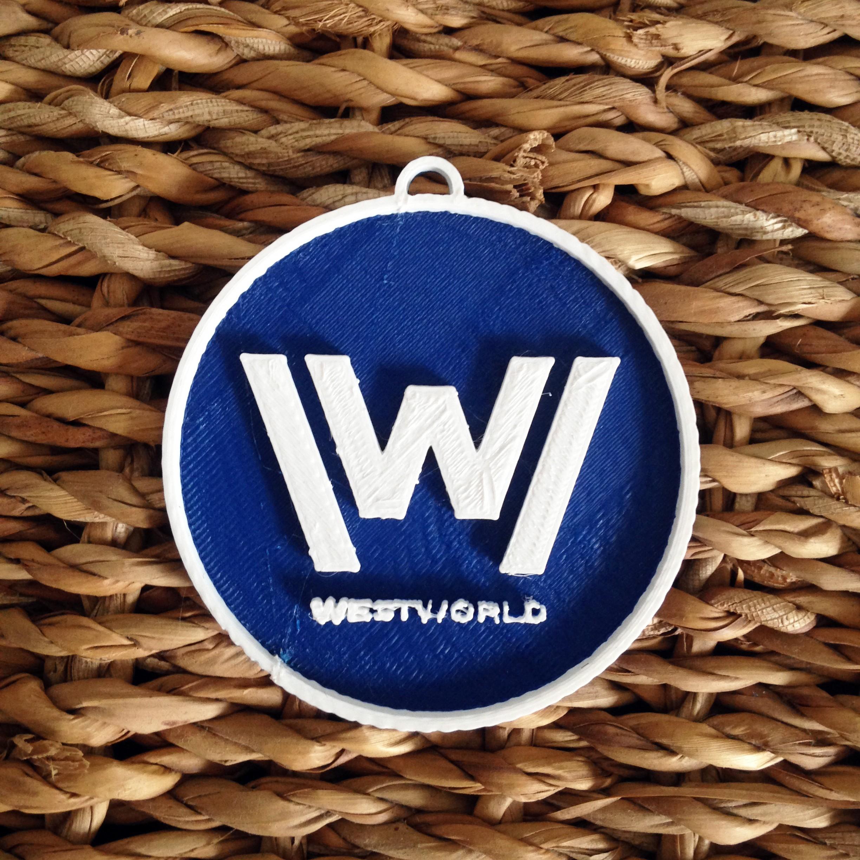 Photo 26-10-2016 11 15 07.jpg Download free STL file West World Logo Key Chain • 3D printable design, Cults