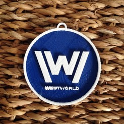 Download free 3D printing models West World Logo Key Chain, Cults