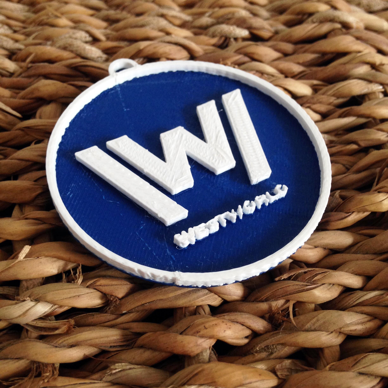 Photo 26-10-2016 11 15 17.jpg Download free STL file West World Logo Key Chain • 3D printable design, Cults