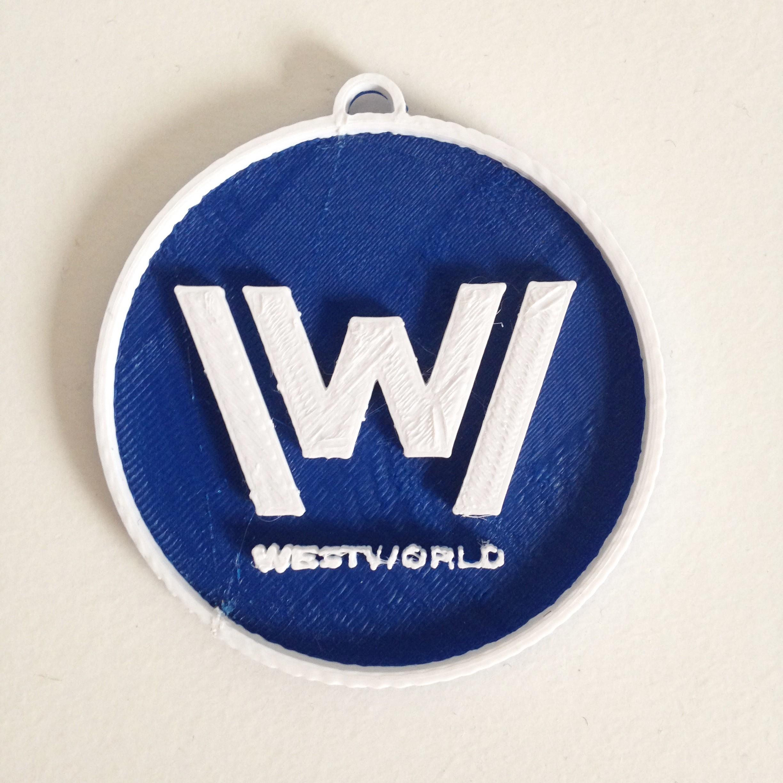 Photo 26-10-2016 11 12 20.jpg Download free STL file West World Logo Key Chain • 3D printable design, Cults