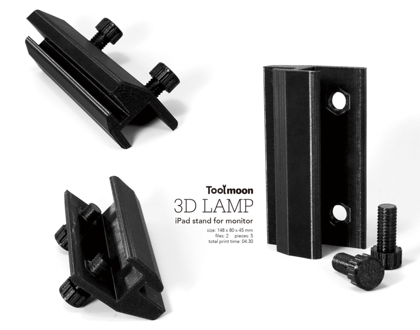 Capture d'écran 2017-08-16 à 19.34.29.png Download free STL file  iPad stand for monitor • 3D printer template, Toolmoon