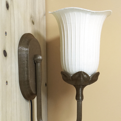 Free stl Classical wall lamp, Toolmoon