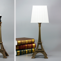 Download free 3D model Eiffel tower lamp, Toolmoon