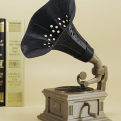 Free 3d printer model Gramophone lamp, Toolmoon