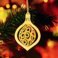 Download free 3D printing models Christmas ornament, Toolmoon