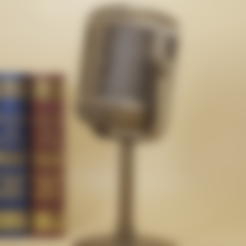 Download free 3D printer files Retro microphone lamp, Toolmoon