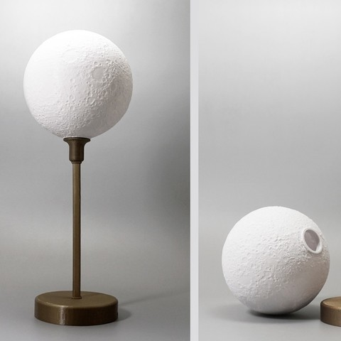 Download free 3D printing models Moon lamp with base, Toolmoon