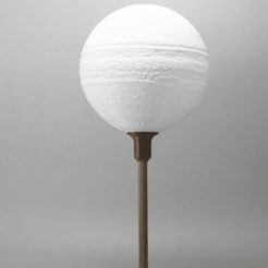 Download free 3D printer model Jupiter lamp with base, Toolmoon