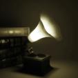 Free 3d printer model Gramophone lamp, Toolmoon