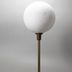 Free 3D printer file Moon lamp with base, Toolmoon