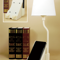 Free 3D printer designs Multifunction phone stand lamp, Toolmoon